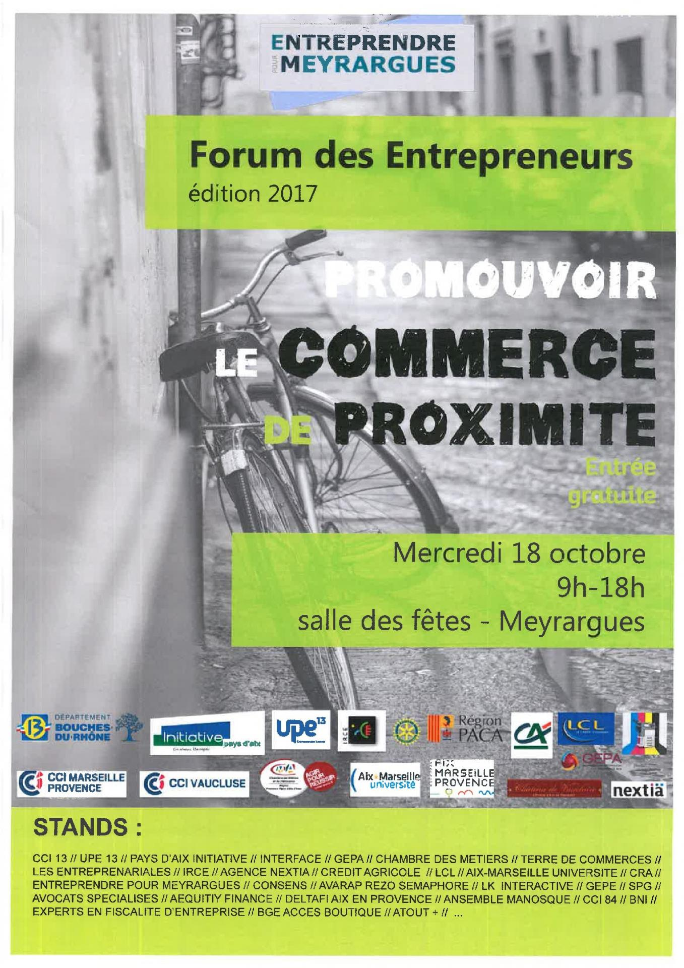 FORUM - MEYRARGUES LE 18/10/2017
